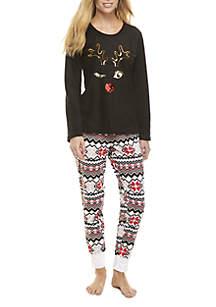 2-Piece Reindeer Pajama Set