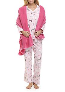 Cat 3-Piece Pajama Set
