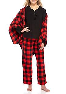 Merry Microfleece 3-Piece Pajama Set