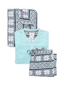 3-Piece Fairisle Fleece Pajama Set