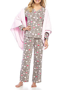 3-Piece Microfleece Pajama Set