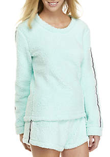 2 Piece Sporty Sherpa Shortie Set