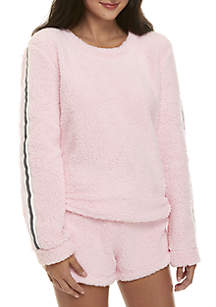 2-Piece Sporty Sherpa Shortie Set