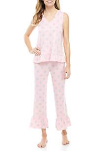 2615b81a25 ... Jogger Set · PJ Couture 2 Piece Whisper Dot Ruffle Pajama Set