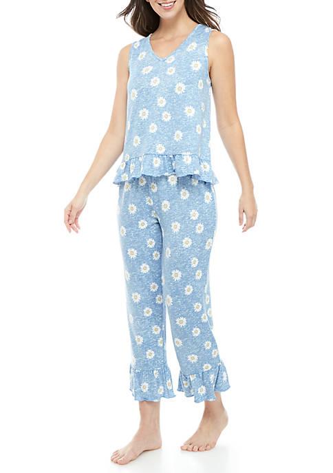 2 Piece Whisper Ruffle Pajama Set