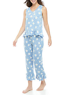 PJ Couture 2 Piece Whisper Ruffle Pajama Set