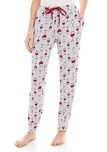 PJ Couture Wine Jogger Pajama Pants