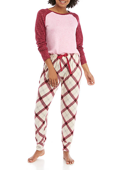2 Piece Hacci Raglan Pajama Set