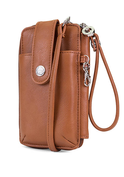 Better Than Leather Ready Set Go Crossbody Wristlet with Battery