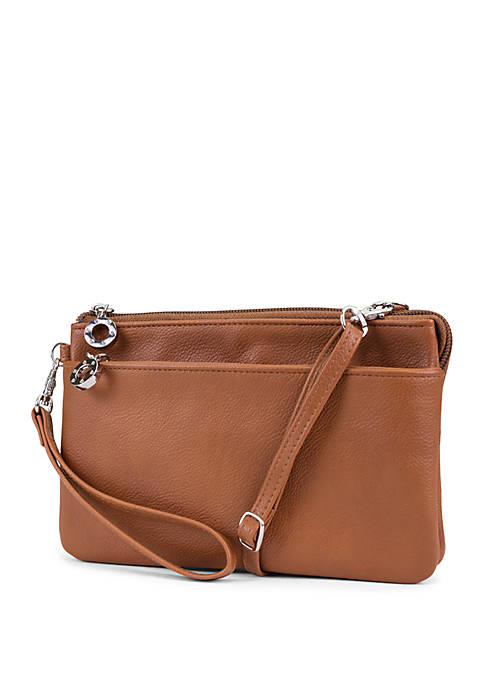 New Directions® Better Than Leather Brady Crossbody Wristlet