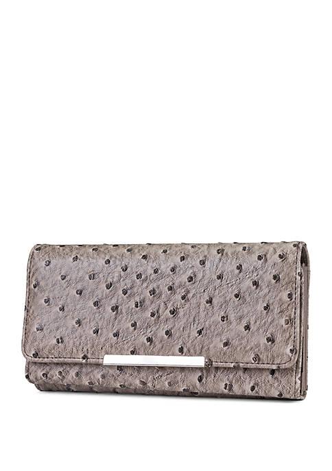 Kim Rogers® Ostrich Minibar Filemaster Wallet