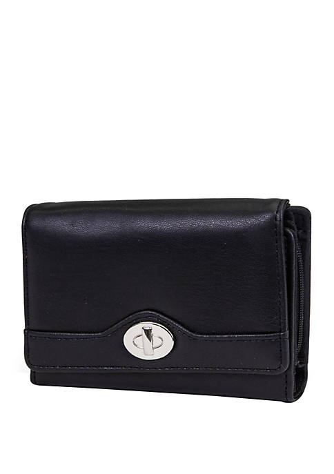 Amsterdam Wallet with Faux Lock