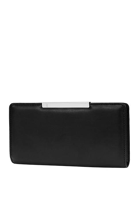 Lamb Slim Wallet with Mini Bar