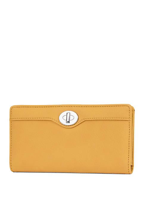 Nubie Slim Wallet with Faux Lock