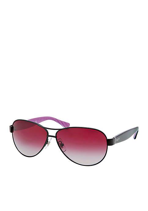 Feminine Double Bar Aviator Sunglasses