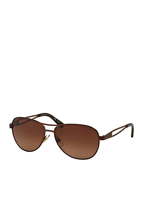 Cut Through Temple Aviator Sunglasses
