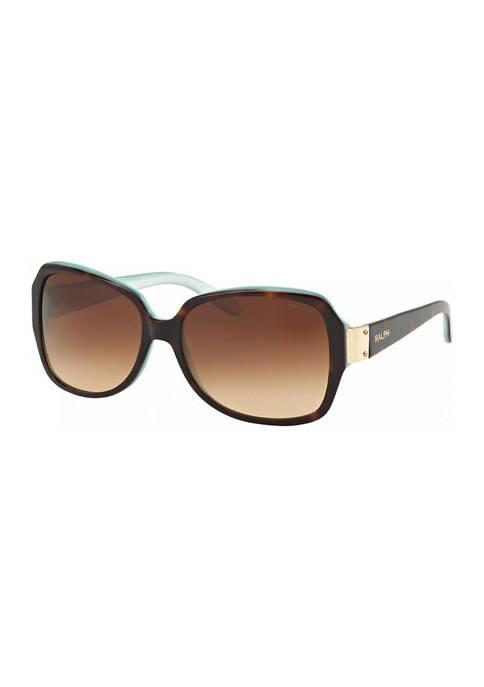 Ralph Lauren Plastic Tortoise Square Sunglasses