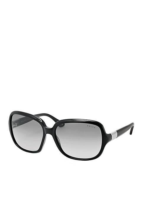 Thin Frame Rectangle Sunglasses