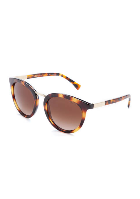 Ralph Lauren Round Gold Tone Sunglasses