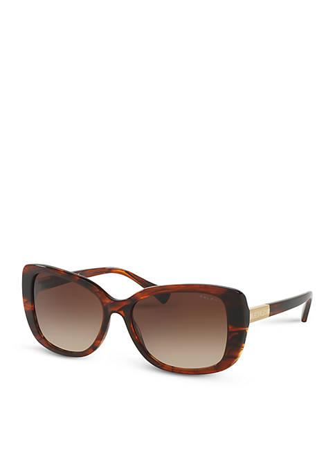 Ralph Lauren Medium Logo Square Sunglasses