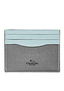 Colorblock Flat Card Case