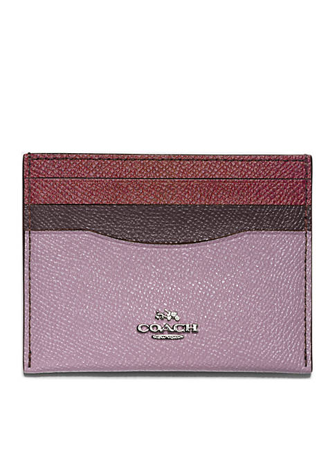 COACH Colorblock Flat Card Case