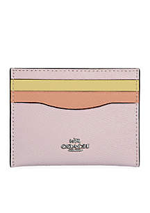 Colorblock Flat Card Case