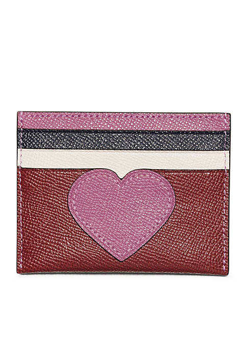 COACH Heart Flat Card Case
