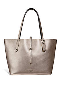 COACH Metallic Leather Market Tote