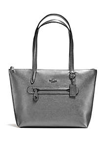 Metallic Leather Taylor Tote