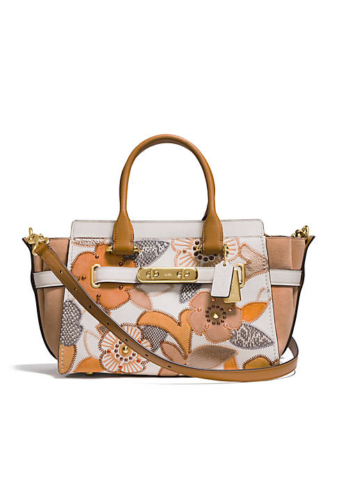 COACH Swagger 27 with Floral Colorblock Patchwork Tote