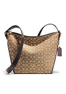Signature Duffel Shoulder Bag