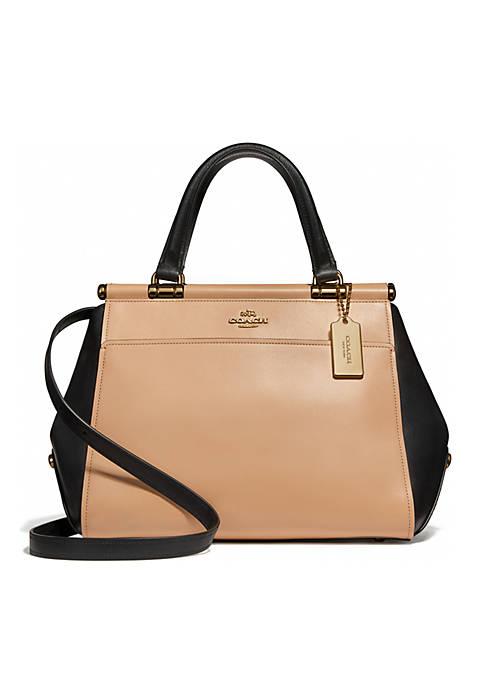 Colorblock Leather Grace Bag