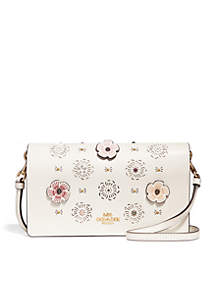 Foldover Crossbody Clutch With Cut-Out Tea Rose