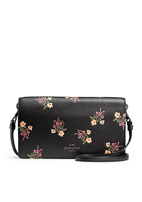 COACH Tea Rose Applique Nolita Wristlet