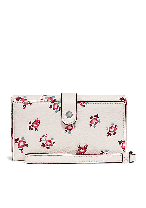 COACH Phone Wristlet With Floral Bloom Print