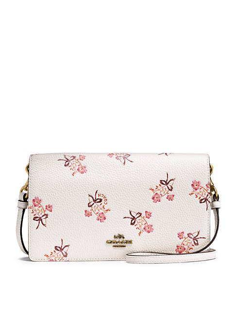 COACH Floral Bow Foldover Crossbody