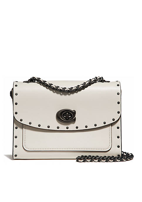 COACH Border Rivets Parker 18 Shoulder Bag