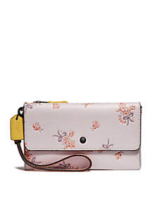 e10dc04ca5 COACH Colorblock Triple Small Wristlet · COACH Colorblock Floral Bow Print  Triple Small Wristlet