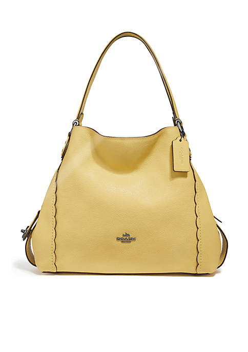 COACH Edie Shoulder Bag 28 With Scalloped Detail