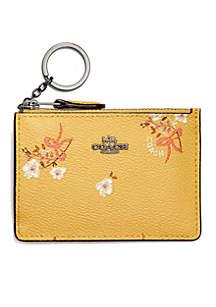 Floral Bow Print Mini Skinny ID Case