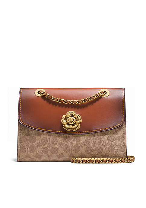 COACH Parker In Signature Canvas With Tea Rose