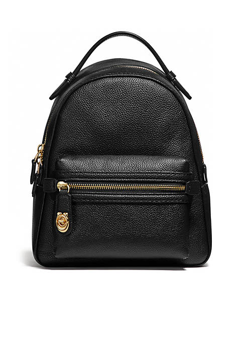 COACH Polished Pebble Campus Backpack