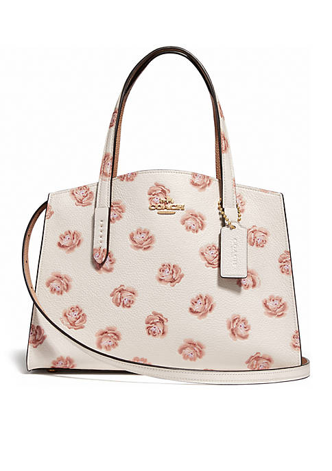 COACH Rose Print Charlie 28 Carryall