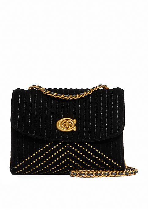 COACH Parker 18 Velvet Shoulder Bag