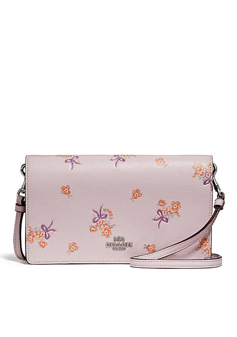 COACH Foldover Crossbody Clutch With Floral Bow Print