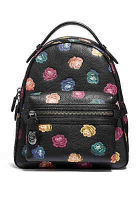 Coach Rainbow Rose Campus Backpack 23