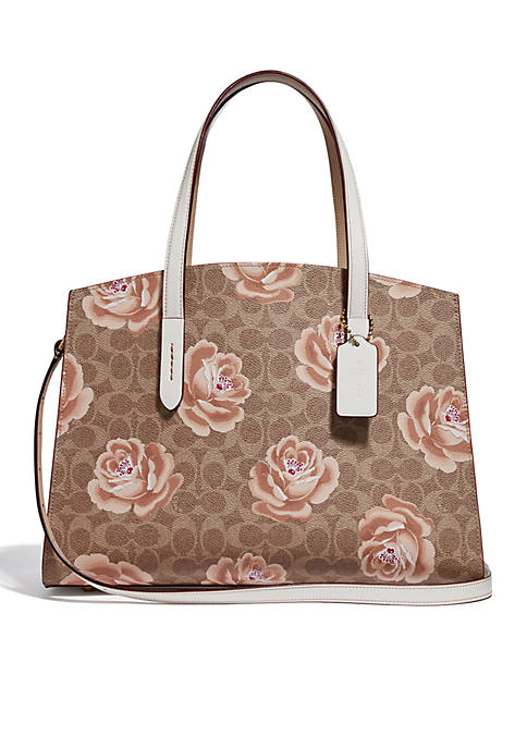 COACH Charlie Rose Print Caryall Satchel
