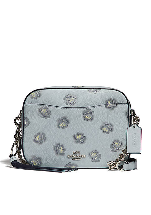 COACH Rose Print Camera Crossbody Bag