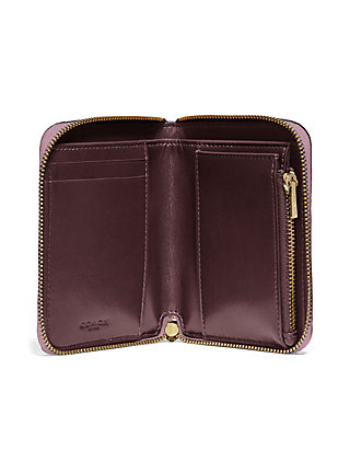 36e1f90177dc ... COACH Small Zip Around Wallet with Rivets